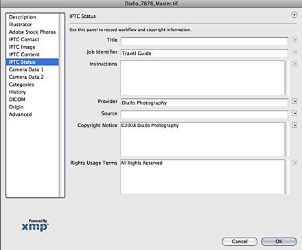 IPTC copyright info
